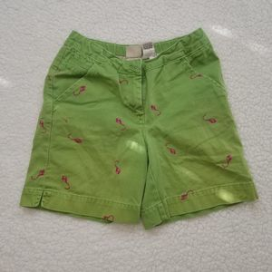 L.L. Bean Green Kite Shorts SZ 8